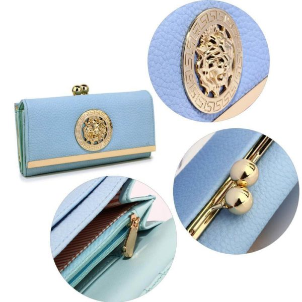 lsp1068a -blue kiss lock purse wallet with metal decoration_5_