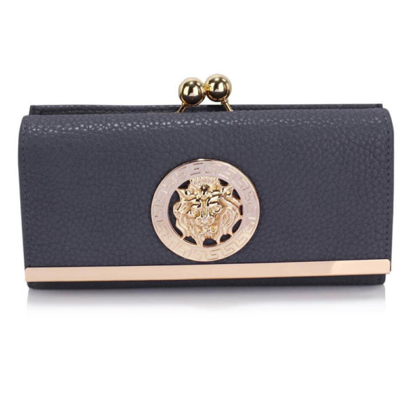 lsp1068a -navy kiss lock purse wallet with metal decoration_1_