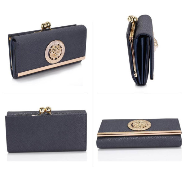 lsp1068a -navy kiss lock purse wallet with metal decoration_3_