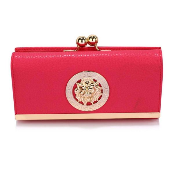 lsp1068a -pink kiss lock purse wallet with metal decoration_1_