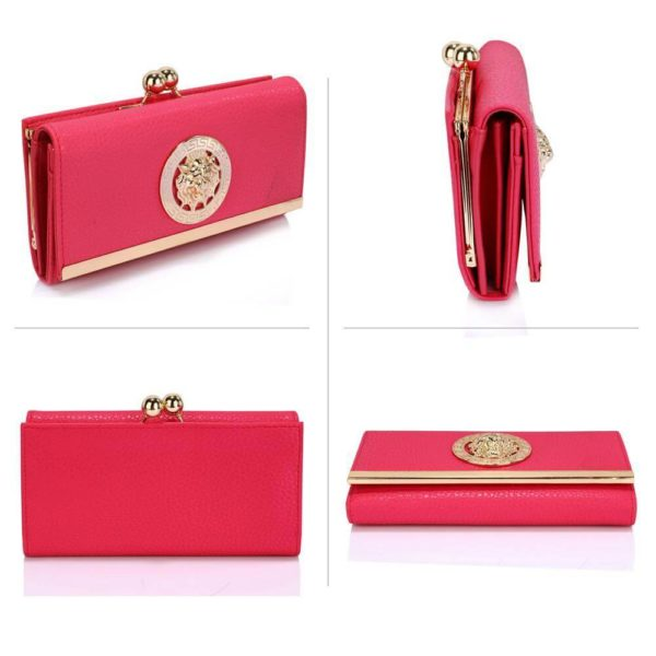 lsp1068a -pink kiss lock purse wallet with metal decoration_3_