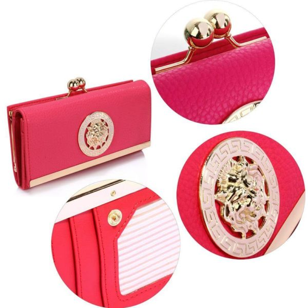 lsp1068a -pink kiss lock purse wallet with metal decoration_5_
