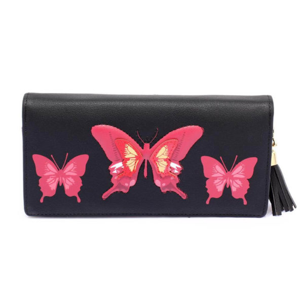 lsp1082 – black butterfly design purse wallet_1_