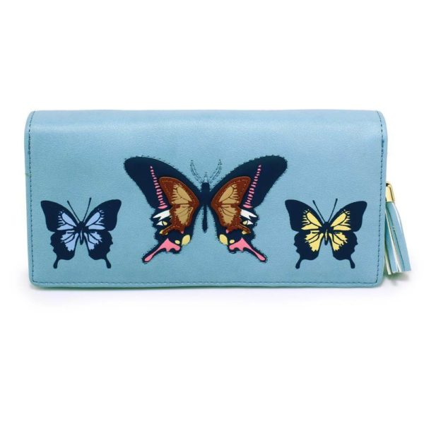 lsp1082 – blue butterfly design purse wallet_1_
