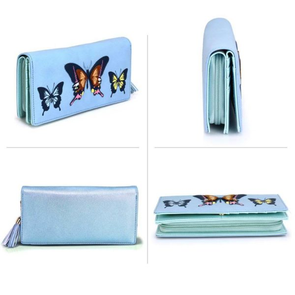 lsp1082 – blue butterfly design purse wallet_3_