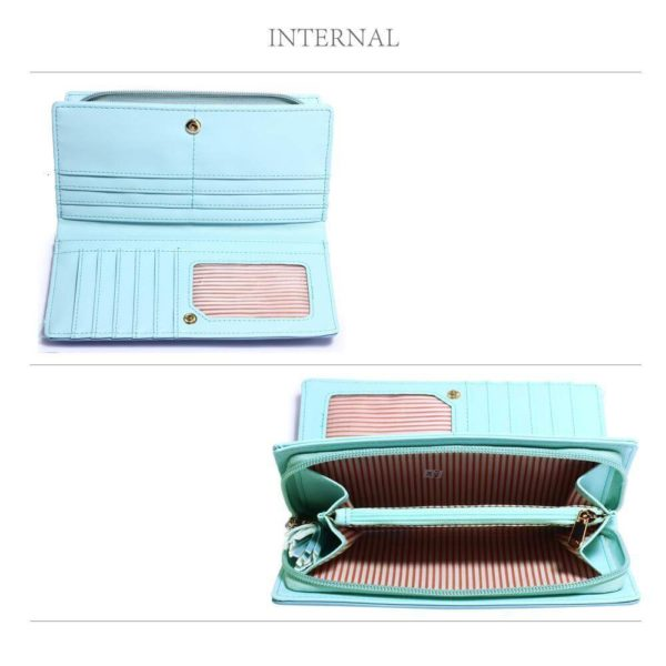 lsp1082 – blue butterfly design purse wallet_4_
