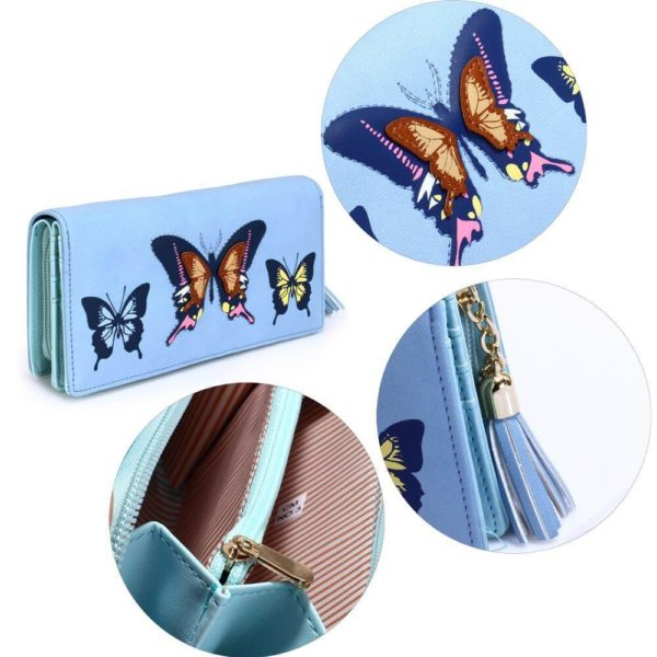 lsp1082 – blue butterfly design purse wallet_5_