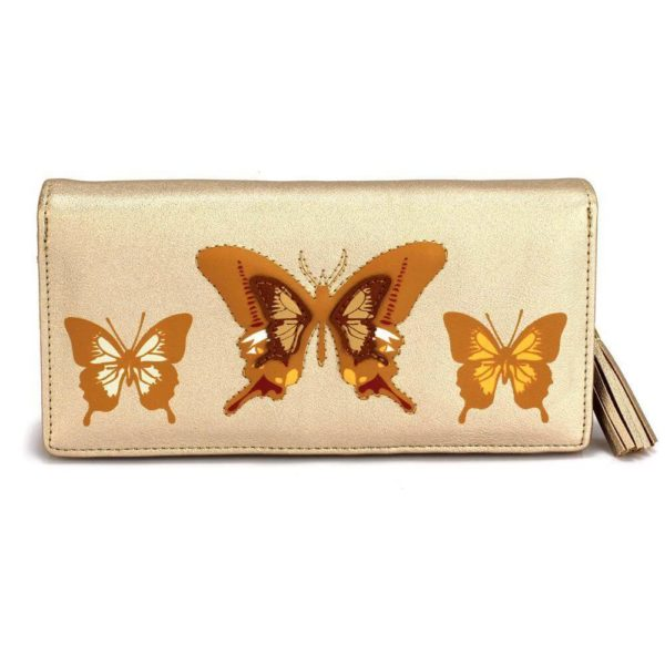 lsp1082 – gold butterfly design purse wallet_1_