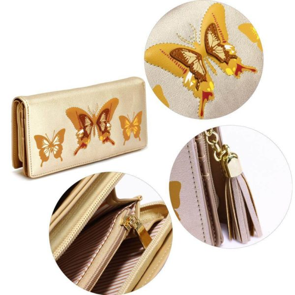 lsp1082 – gold butterfly design purse wallet_5_