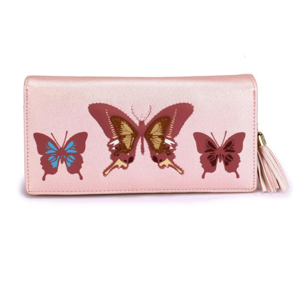 lsp1082 – pink butterfly design purse wallet_1_