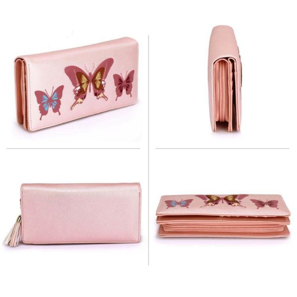 lsp1082 – pink butterfly design purse wallet_4_ (2)