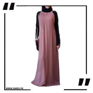 Two Tone Pleated Abaya