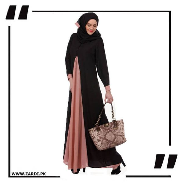 AA20 Pretty Pink Layered Abaya