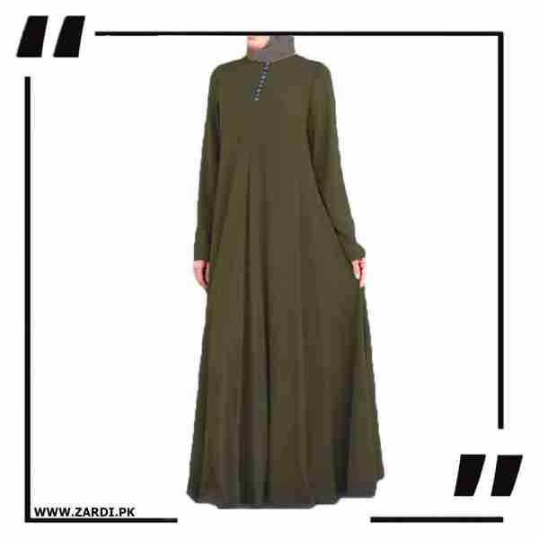 AA25 olive Airline Maxi with Front Platelets