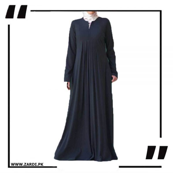 AA36 black Haze V Cut Neck Abaya