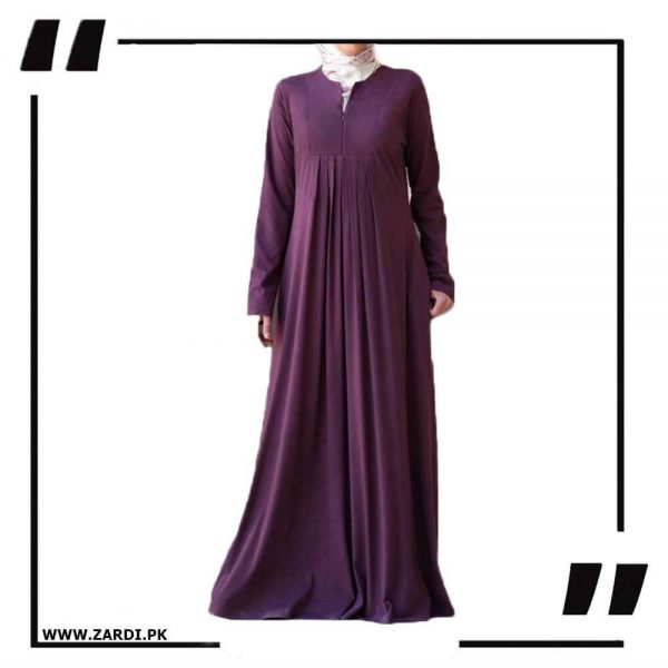 AA36 purple Haze V Cut Neck Abaya