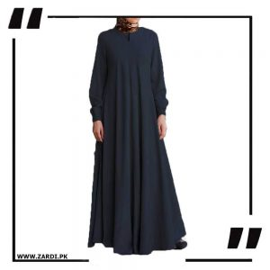 black Maxi Flared Abaya