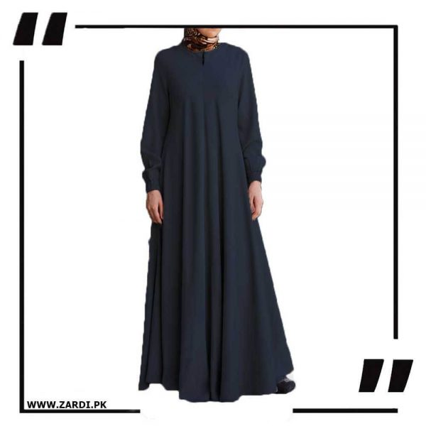 AA39 black Maxi Flared Abaya
