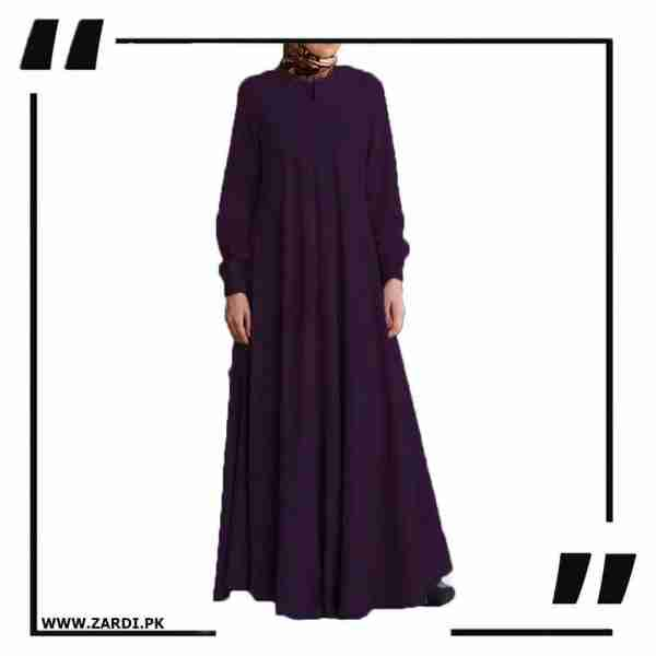 AA39 purple Maxi Flared Abaya