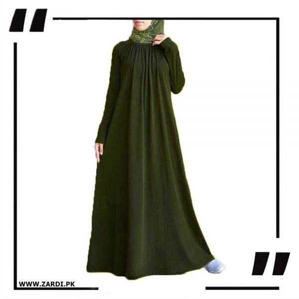 AA40 green Fish Style Maxi Abaya