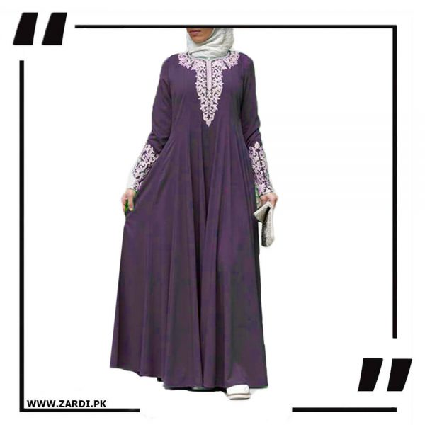 AA50 purple Silver Jewel Embroidered Maxi