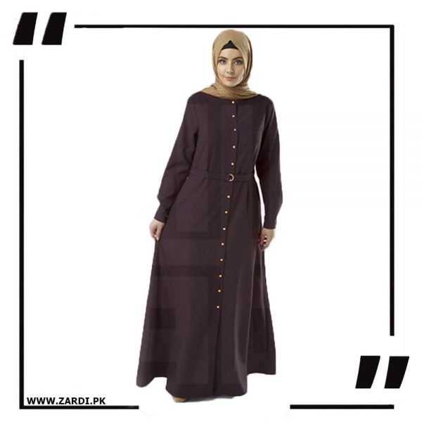 AA54 brown Long Coat Abaya