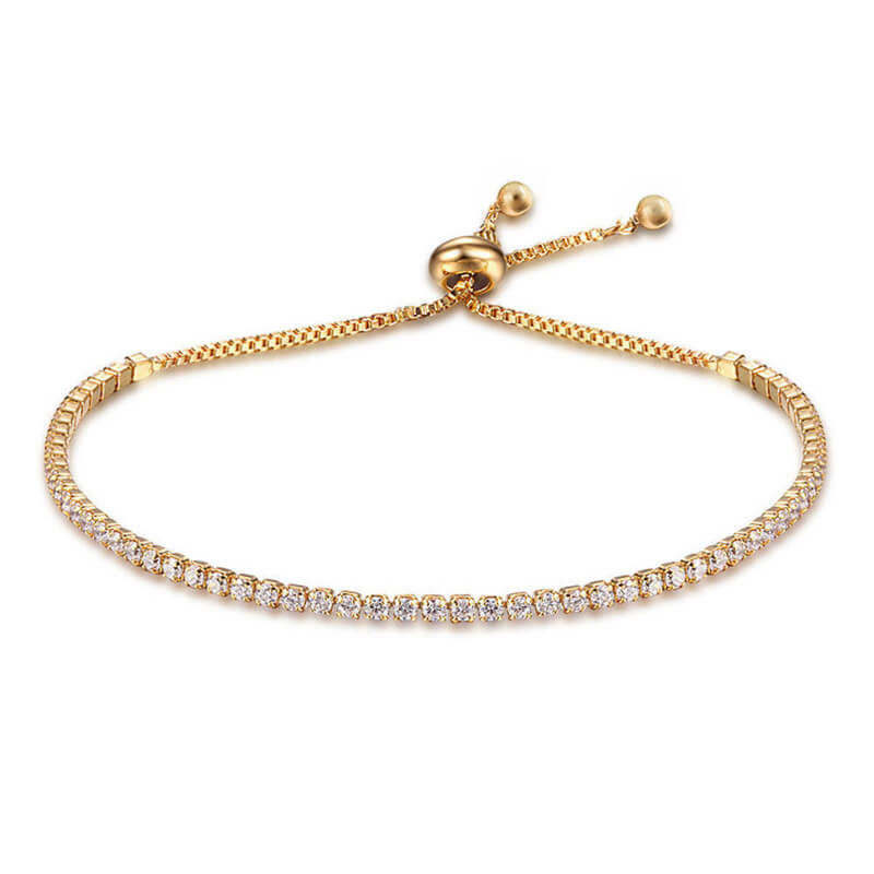 Gold Rhinestone Glowing Adjustable Bracelet
