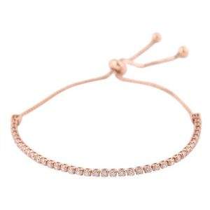 Rose Gold Rhinestone Adjustable Bracelet 1