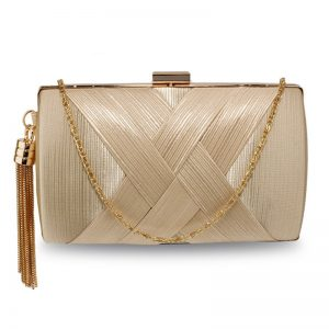 Nude Tassel Clutch Bag