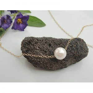 Gold Chain Necklace With Pearl