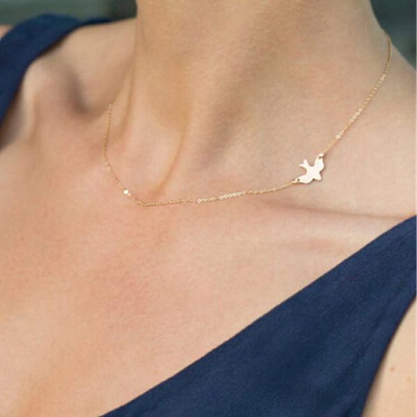 AN58 Gold Chain Bird Necklace Fashion Jewelry
