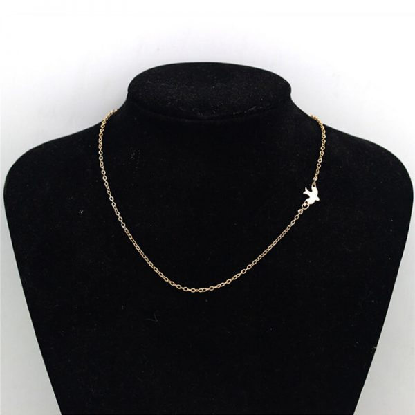 AN58 Gold Chain Bird Necklace Fashion Jewelry2