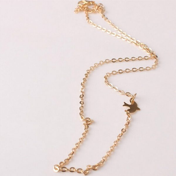 AN58 Gold Chain Bird Necklace Fashion Jewelry3