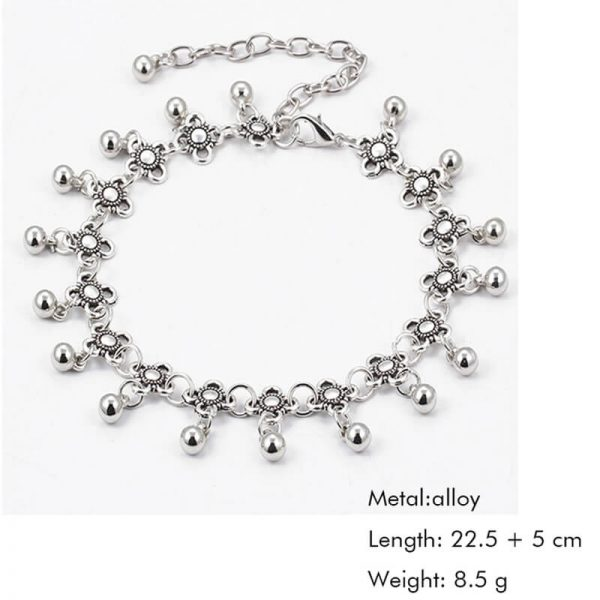 ANK02 Silver Floral Anklet For Her1