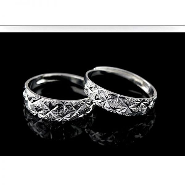 AR06 – 2 Pack – Silver Plated Star Curved Ring – Adjustable3