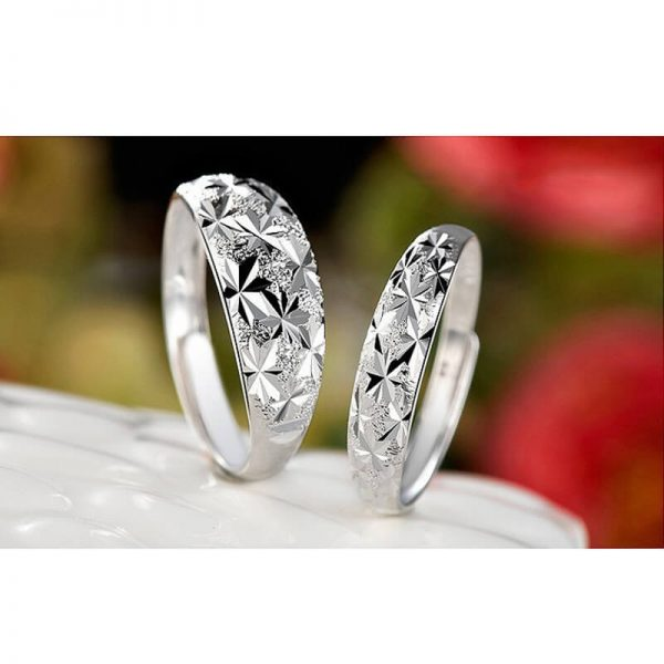 AR06 – 2 Pack – Silver Plated Star Curved Ring – Adjustable4