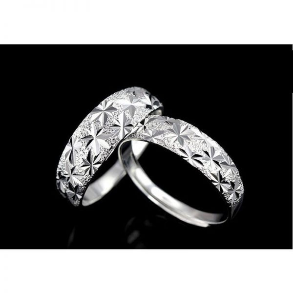 AR06 – 2 Pack – Silver Plated Star Curved Ring – Adjustable5