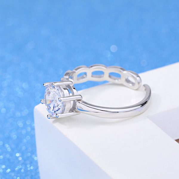 AR07 Silver Plated Adjustable Ring