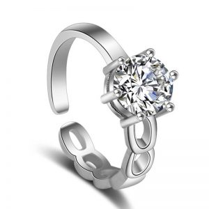 Silver Plated Adjustable Ring