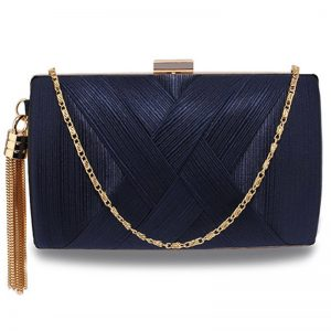 Navy Tassel Clutch Bag