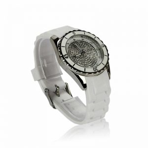 White Crystal Watch For Her