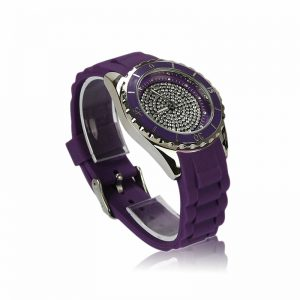 Purple Crystal Watch For Her