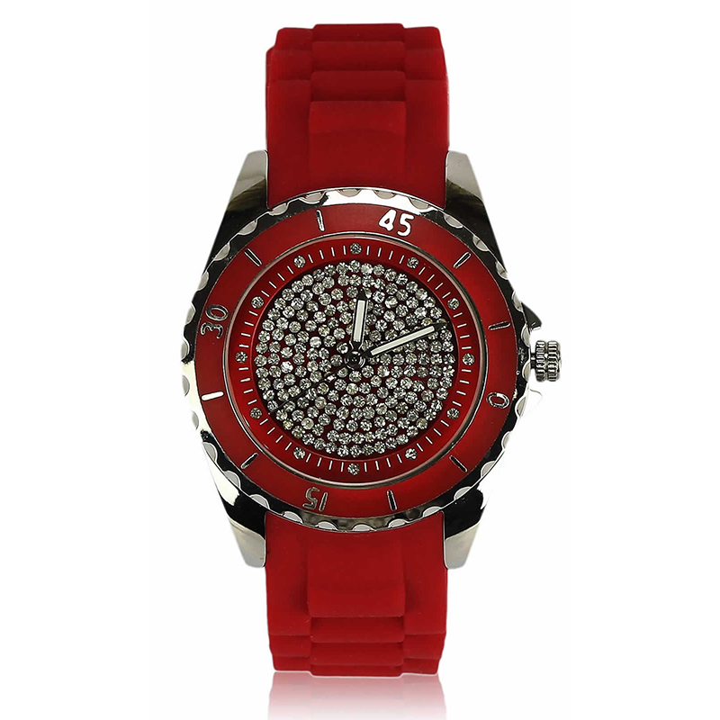Red Crystal Watch For Her