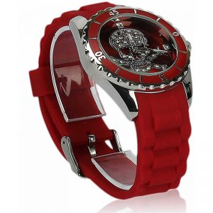 Unisex Red Skull Watch