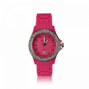 Fuchsia Fashion Diamante Watch For Women