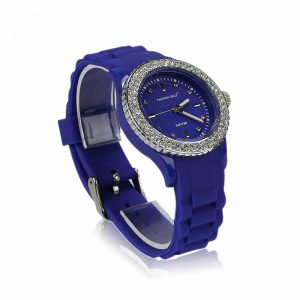 Blue Fashion Diamante Watch For Women