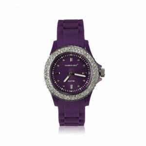 Purple Fashion Diamante Watch For Women