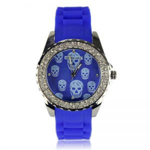 Blue Skull Diamante Watch For Women