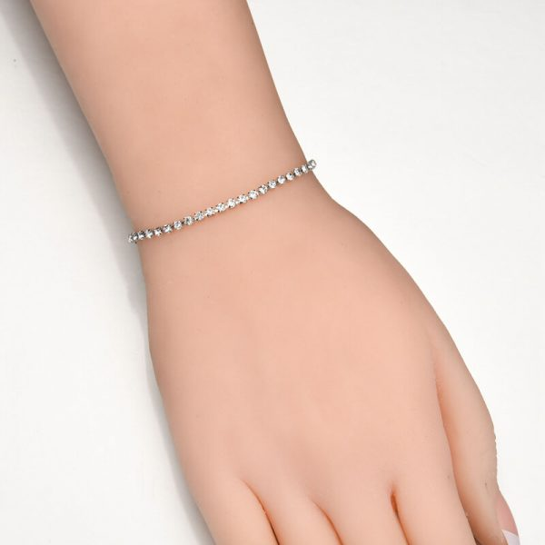Silver Rhinestone Adjustable Bracelet 2