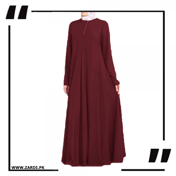 ZA24 Burgundy Airline Maxi with Front Platelets –